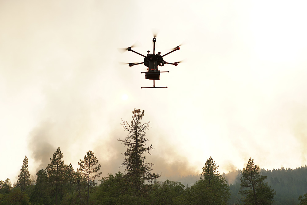 IGNIS at work during a wildfire