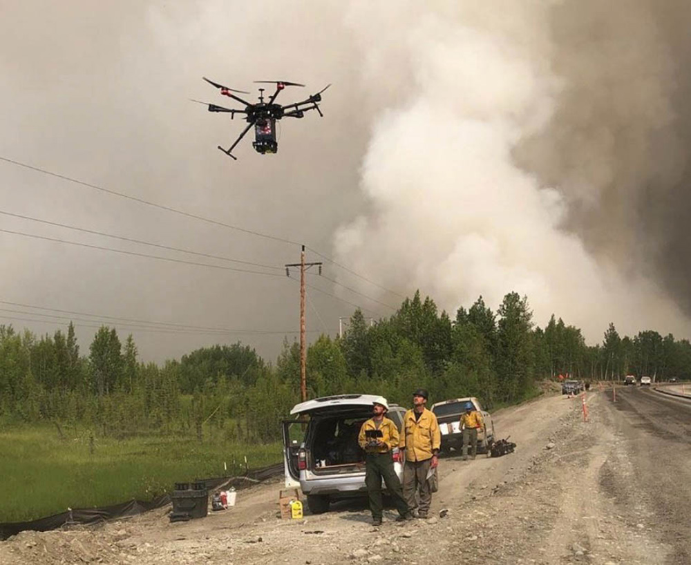 Lakeview Hotshots assisting with a burn operation in Alaska. Photo by Lakeview Hotshots.